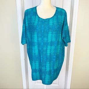 LulaRoe Aqua Print Simply Comfortable Knit Top